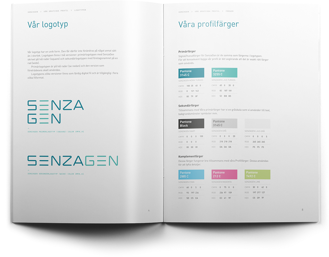 SenzaGen AB Grafisk Manual