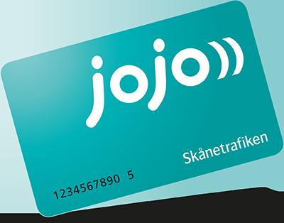 Skånetrafiken Jojo-kort (Turkos)
