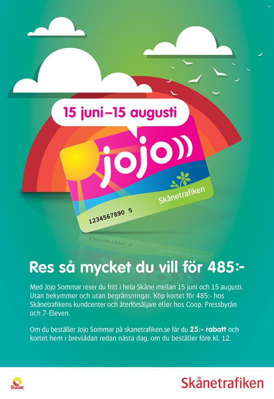 Skånetrafiken Jojo Sommar Annons